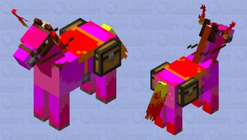 rapidash, but with purple body Minecraft Mob Skin