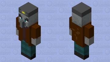 Illager Miner Minecraft Mob Skin
