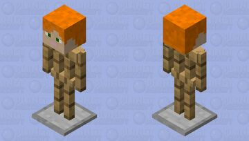 Armor Stand with an Alex Head on it Minecraft Mob Skin