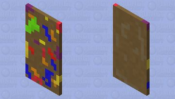 Cutting Board with Fruit Juice Minecraft Mob Skin