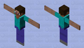 [Bat] Just your typical flying Steve, nothing weird to see here Minecraft Mob Skin
