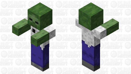 Zombie with a creeper shirt Minecraft Skin