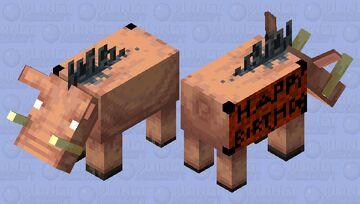 happy birthday hoglin Minecraft Mob Skin