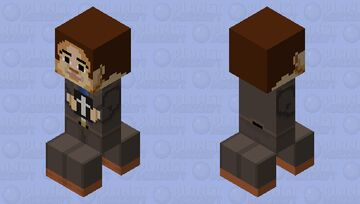 What would you do if you see this boy on your doorstep? Minecraft Mob Skin