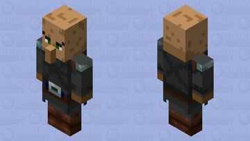 Guardian villaguer axe with armor Minecraft Mob Skin