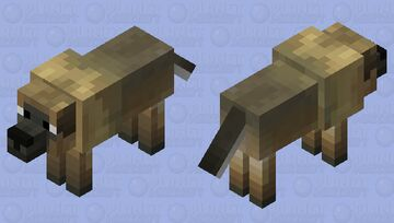 Russian Bear Dog Minecraft Mob Skin