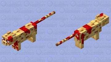 Bloody Ocelot Minecraft Mob Skin