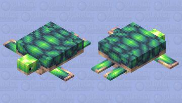 I made a turtle Minecraft Mob Skin