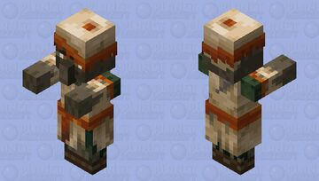 Zombie villager husk by ALEXYSSSJ4 (with clothes) Minecraft Mob Skin