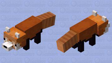 Red panda Minecraft Mob Skin
