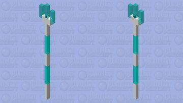 Electric trident Minecraft Mob Skin