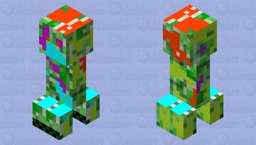GLICH CREEPER Minecraft Mob Skin
