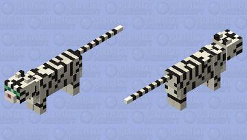 White Tiger Minecraft Mob Skin