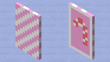 Pink Candy Cane Cape : D Minecraft Mob Skin