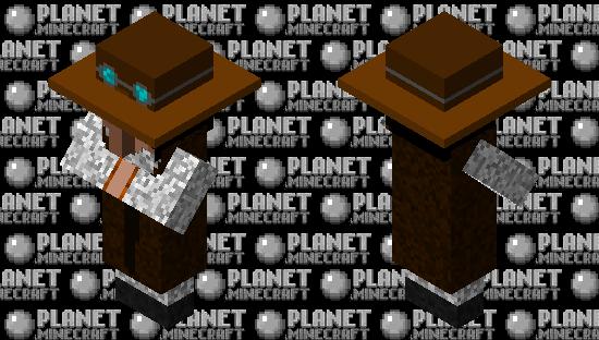 Steampunk villager Minecraft Skin