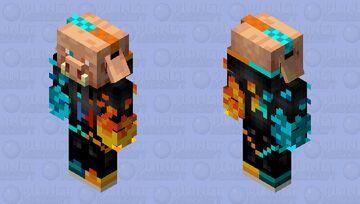 Ice and Fire Piglin (Piglin Boss) Minecraft Mob Skin