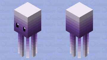 Cute Squid Minecraft Mob Skin