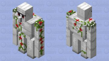 Clean Iron Golem with Poppies Minecraft Mob Skin