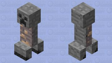 Iron Creeper Minecraft Mob Skin