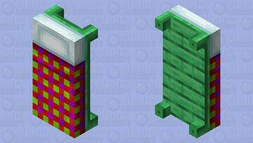 red & purple plad bed Minecraft Mob Skin