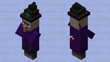 Battle Damage Witch Minecraft Mob Skin