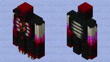 red warden golem Minecraft Mob Skin