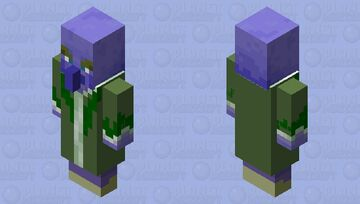 Grape-Flavored Evoker Minecraft Mob Skin