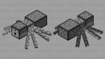 Redstone Spider Minecraft Mob Skin