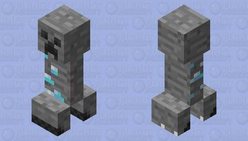 Diamond Creeper Minecraft Mob Skin