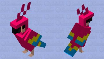 Pansexual Parrot Minecraft Mob Skin