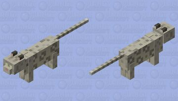 snow leopard Minecraft Mob Skin