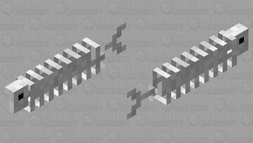 Skeleton salmon Minecraft Mob Skin