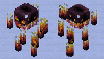 Obsidian Blaze Minecraft Mob Skin