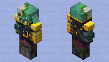 Drowned Zombified Piglin Warrior Minecraft Mob Skin