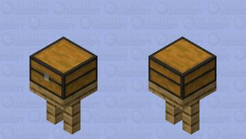 Chest on the table. Minecraft Mob Skin