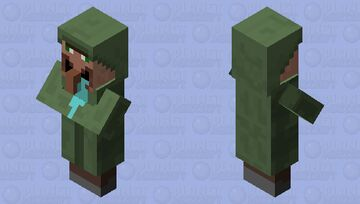 drooling villager Minecraft Mob Skin