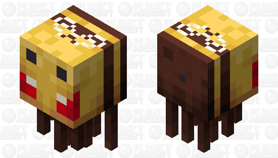 A Very Angry Beeghast Minecraft Skin