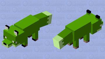 Green Fox Minecraft Mob Skin
