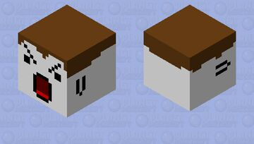 ITS AN ANGRY DERP FACE!!!!!!!!!!!!!! Minecraft Mob Skin