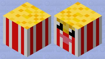 I don't know if there popcorn or fries but I do that there cute and hot Minecraft Mob Skin
