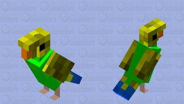 Green parakeet (Wild type, budgerigar, male) Minecraft Mob Skin