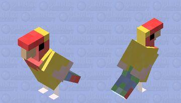 Lutino Lovebird Minecraft Mob Skin