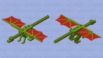 WaterMelon Dragon Minecraft Mob Skin
