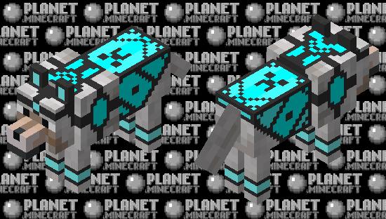 Diamond armored dog Minecraft Skin