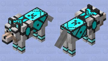 Diamond armored dog Minecraft Mob Skin