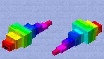 Rainbow derp silverfish Minecraft Mob Skin
