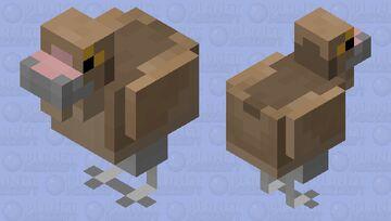 Baby Accurate Gallimimus. (Dino Dinosaur Mineozoic.) Minecraft Mob Skin