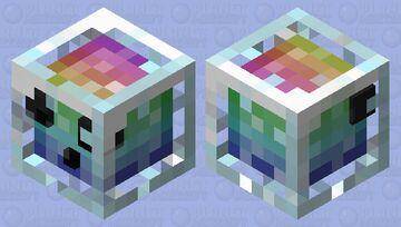 Rainbow Slime in a Jar Minecraft Mob Skin