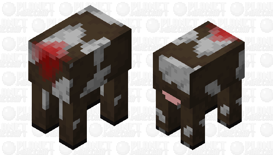 Butcher's shop Cow to go along with the Chicken and Pig Minecraft Skin