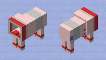 Space Dog Suit Minecraft Mob Skin